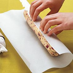 Freezing Cookie Dough | SouthernLiving.com. Wrap in parchment paper. Shape in a log. Wrap in plastic wrap. Add 2 to 3 minutes to the bake time.