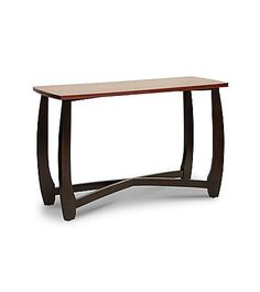 Baxton Studios Straitwoode Cherry and Dark Brown Modern Console Table | Carson's