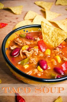 The best Taco Soup Recipe. Delicious and very convenient to make.