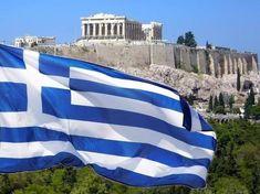 The National Symbols of Greece: Flag, Emblem and Anthem – Greek City Times National Symbols, National Flag, Greek Independence, Marine Flag, King George I, Greece Flag, Greek Beauty, Merchant Marine, Acropolis