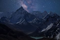 Ama Dablam and the Milky Way - Ama Dablam is arguably the most scenic mountain in the Everest region (which would arguably make it the most scenic mountain in the world). I was fortunate to capture the Milky Way rising above the horizon, as clouds engulfed the area I was standing only a few minutes later. Actually, I was pretty lucky to have GPS in the clouds as well, as I would of had no idea where I was going until I got above the clouds! It was a little sketchy for a minute.  I would of…