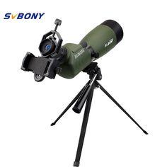 SVBONY Spotting Scope SV14 Zoom BAK4 20-60x60/25-75x70mm 45De Angled Birdwatch Telescope Monocular+Phone Adapter F9310 //Price: $89.67//     #shopping