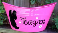 Personalized Bucket fro ribbon, hair bows, clippies and more - TDY Designs