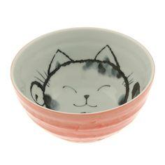 """Cat Bowl 6.25"""" Pink by Kotobuki Trading Co. // oh so kawaii #productdesign"""