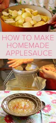 This Life-Changing Homemade Applesauce recipe is so easy to make and incredibly delicious!