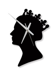 Queen Clock/Black