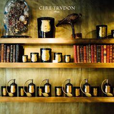Cire Trudon, inside the parisian boutique, 78 rue de Seine, Paris VI. Interior details.