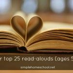 25 read-alouds (ages 5-12) While it's cold outside why not nestle in front of the fireplace and read out loud together?