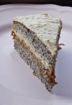Almás máktorta   Hungarian Recipes, No Bake Cake, Food To Make, Tart, Sandwiches, Bakery, Sweets, Bread, Cooking