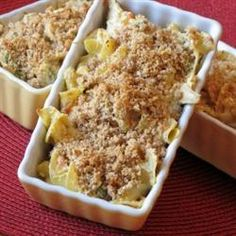 "Chicken Noodle Casserole | ""This is a great chicken casserole recipe. Easy & delicious! The best part is the cracker crumbs crust on top."""