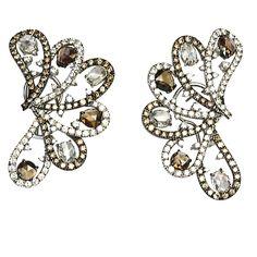 CIJ International Jewellery TRENDS & COLOURS - Earrings by Gioielleria Nardi 18kt white & black gold diamond butterfly