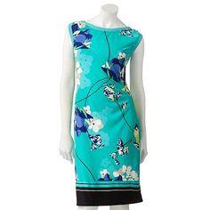 Apt. 9 Floral Pleated Sheath Dress - Petite