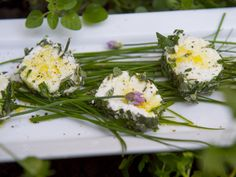 Goat cheese rolled in parsley, sage, rosemary and thyme
