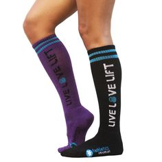 $15.00 Plum/Teal Picture of Knee High CrossFit Socks 2.0 (Plum or Black). Buying. Have to protect my shins!