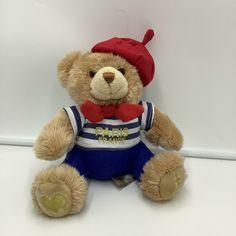 """Keel Toys France French Paris Bear Plush Soft Toy Beret Stuffed Animal 8"""" #KeelToys"""