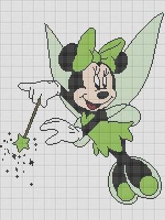 MINNIE MOUSE FAIRY CROCHET PATTERN AFGHAN GRAPH E-MAILED.PDF #201
