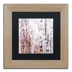 "Trademark Art 'Winter Trees' Framed Graphic Art Print Mat Color: Black, Size: 11"" H x 11"" W x 0.5"" D"