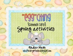 Math and Literacy activities for Spring on TpT!