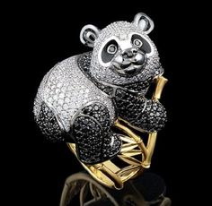 "Panda Ring -  ""Master Exclusive"" Izhevsk Jewelry House, Russia"