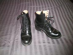 Vintage black Fluevog military style boots by frugalgems on Etsy, $133.00