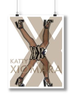 Catarina Vasconcelos — Poster 'X' · Katty Xiomara · projeto 'Alfabeto Cultura Visual'; 2014. #alquimiadacor #designeproduçãográfica #culturagráfica #visualculture #poster #designgráfico #graphicdesign #colagem #collage