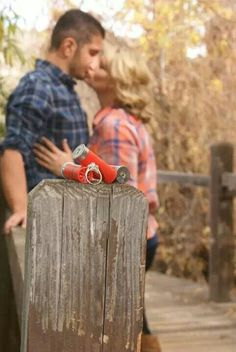 Country Engagement Photo #countrythang #countrycouple #engagementphoto #country
