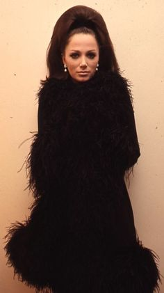 Little black coat...timeless glam! @Jackie Collins  Fab and then some!