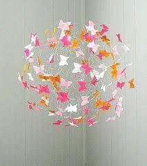 So Glittering: Movil de mariposas