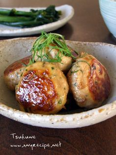 Teriyaki Tsukune, Japanese Chicken Meatballs|照り焼きつくね #Washoku