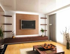 Good 2 Wooden Panel Wall Minimalis Modern Living Room   Wikrev Dot Com