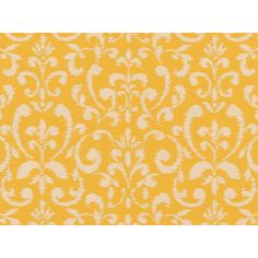 Covington Fabrics Cecita Daffodil Fret Damask Performance Outdoor Fabric