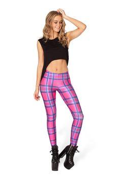 Tartan Barbie Leggings by Black Milk Clothing $75AUD