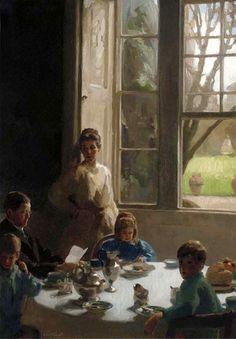 Breakfast Time - Frederick Elwell (1870 – 1958, English)