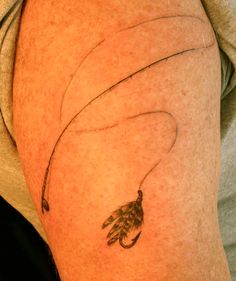 fly fishing tattoo by Traci Manley | New Rose Tattoo in Portland, OR