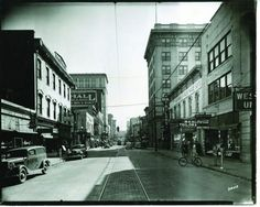 The Roanoke Times | File 1939  This photo is looking south on Jefferson Street from Norfolk Avenue in 1939. If you look closely, you can see the parking meters that were installed in 1938 — charging a nickel for an hour of parking.