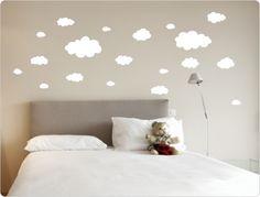 ♥ Wandtattoo Wolken Wanddekoration ♥ N248 von I-love-Wandtattoo auf DaWanda.com
