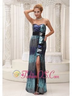 High Slit Colorful Paillette Over Skirt With Beading Floor-length 2013 Prom / Homecoming Dress For Formal Evening    http://www.fashionos.com  Stunning and fabulous are two words to perfectly describe this dress. The skirt is made from sequince entirely, which is shown in different colors under the light. It features a strapless bodice with sweetheart neckline. The matching waistband with a bow that droops to just above the knee. The floor-length skirt with a sexy slit is smooth and elegant.