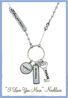 Mothers Day I love you more Necklace