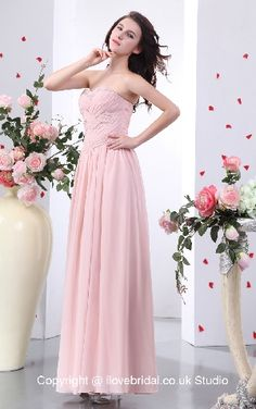 Adorable Sequined Ruched Sweetheart Pink A-line Evening Dress