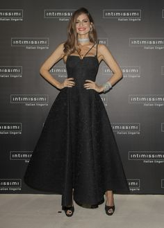 Model Ariadne Artiles attends the 'Intimissimi 20 years anniversary' photocall at Italian embassy in Spain on November 17, 2016 in Madrid, Spain.
