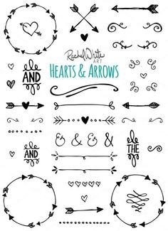 Hearts & Arrows - Vector & PNG Illustrations by Rachel White Art on Creative Market