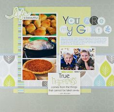 Reflections Power Palette Project Ideas: You Are My Gift Reflections Scrapbook Layout Project Idea
