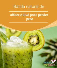 Batida natural de #alface e #kiwi para perder peso A alface é considerada um dos alimentos mais importantes quando se trata de perder #peso, posto que as #calorias que traz para o organismo são muito poucas