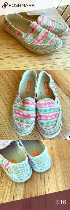 Rocket Dog, multi color, woven flats! These multi color Rocket Dogs are so fun and perfect for spring and summer. A great color palette, style and a comfortable shoe! These are pre owned but show little sign of wear other than the soles! 💕Bundle and save! 💕 Rocket Dog Shoes Flats & Loafers