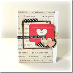 Card by Melanie Blackburn Love You More, My Love, Hip Kit Club, Happy Mail, Happy Saturday, Cool Cards, Project Life, Favors, Joy