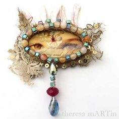 Mixed Media Eye Token with theresa mARTin at Artistic Artifacts