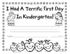 Free First Day of Kindergarten and First Grade Awards