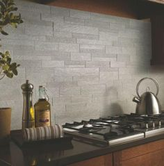 Modern Kitchen Tile Ideas kitchen backsplash. maybe in slate or other colors. perfect for my
