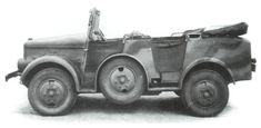Poland's light military truck of the future: the PZinz 303. Prototypes for this light recce vehicle had just passed trials when Germany invaded. It was developed from the Fiat 508.