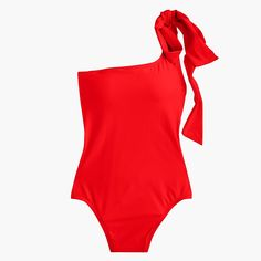 Shop the Women's Bow-Tie One-Shoulder One-Piece Swimsuit at J.Crew and see the entire selection of Women's Swimwear. Shop J. One Piece Swimsuit Striped, One Shoulder Swimsuit, Women Bow Tie, Crew Clothing, High Waisted Bikini Bottoms, Green Fashion, Women Swimsuits, Cover, Swimwear